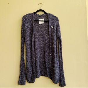 Abercrombie Black Knit Cardigan Kids XL